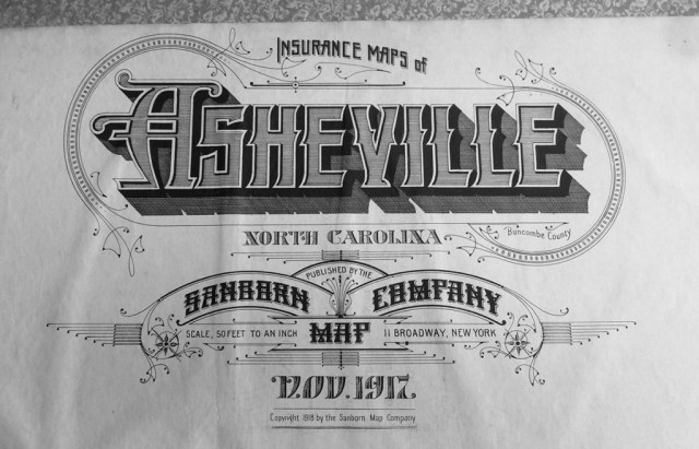 Old Asheville Map from Sanborn Map Company