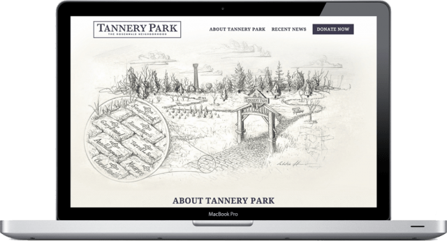 Tannery Park Website Homepage Design City of Brevard