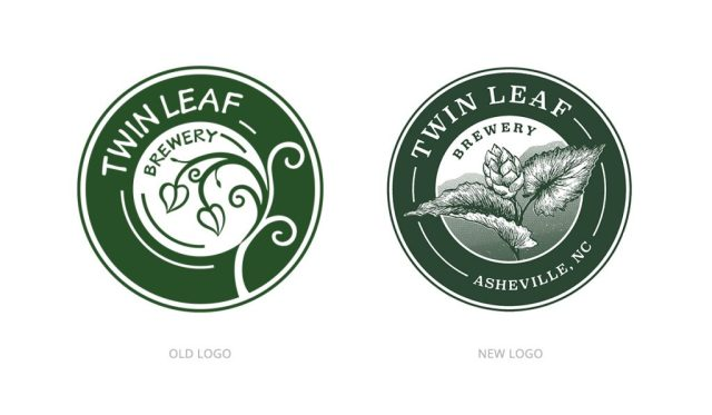Twin Leaf Brewery New Logo Old Logo