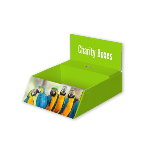 Custom Printed Charity Boxes - The Big Display Company