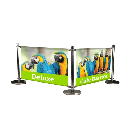 Printed Deluxe Café Barrier - The Big Display Company