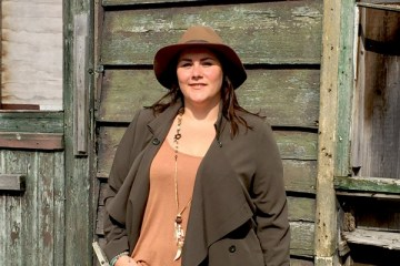 fall forest, plussize fashion blog, didi, shop your shape, western, countryside, thebiggerblog