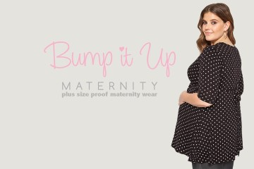 Yours Clothing, plus size zwangerschapskleding tot maat 60