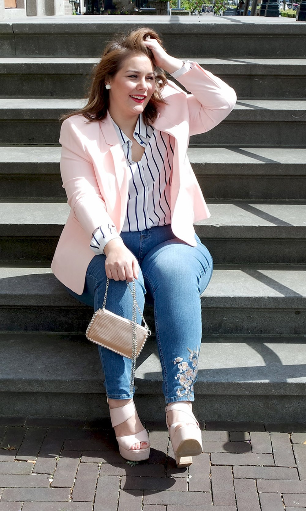 borduur jeans