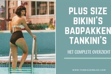 plussize proof bikini's, badpakken en tankini's