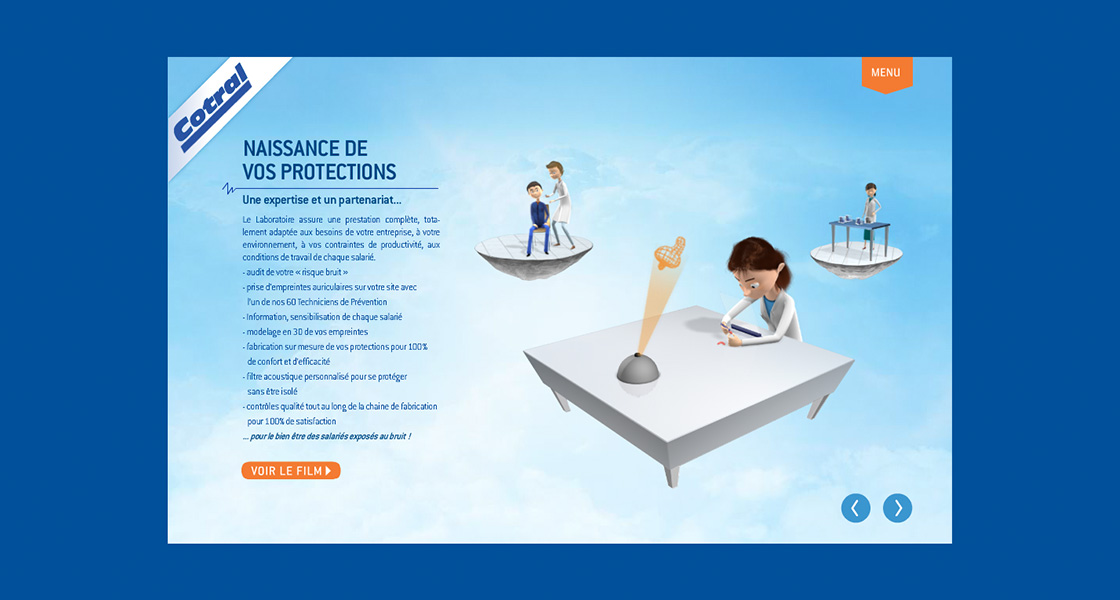 agence-communication-limoges-tbo-site-cotral-protectionpresentation-interactive-