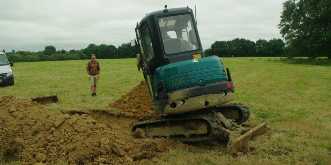 Watching the man with the digger