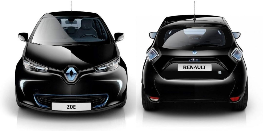 Renault Zoe front and back