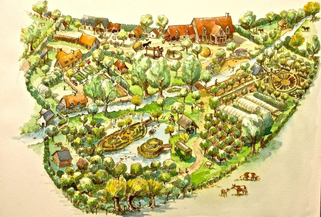 Map of the main part of the Bec Hellouin Farm