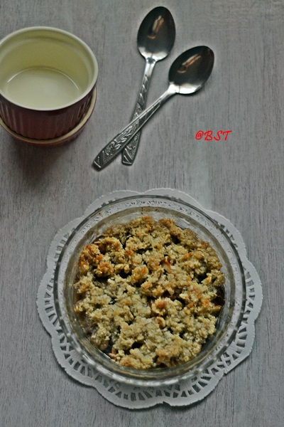 32. Banana Date Crumble