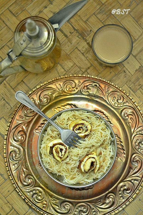 Balaleet ~ Emirati Vermicelli Egg Breakfast