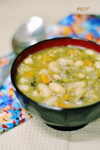Lefki Fasolada ~ Greek White Bean Soup