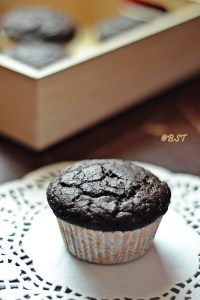 Vegan Chocolate Beetroot Muffins