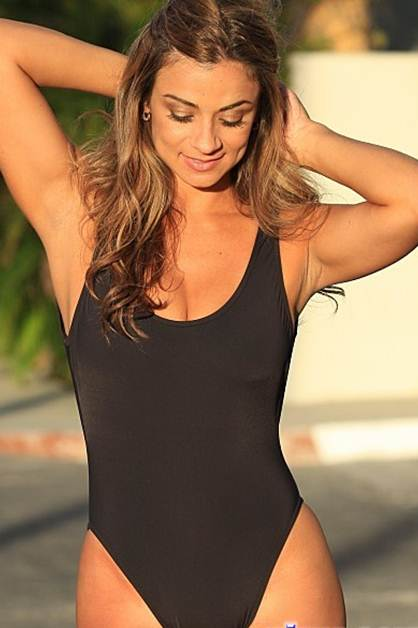 Sheer Black One Piece Swimsuit
