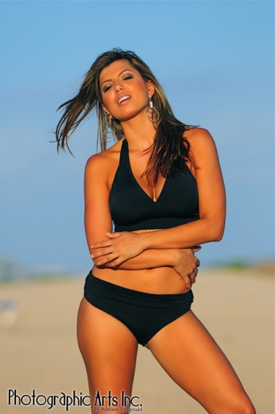 Black Sport Halter Top Bikini