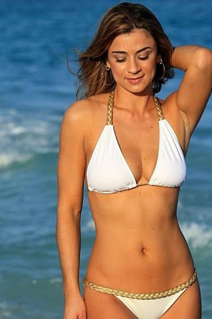 Braided White Grecian Goddess Braided String Bikini