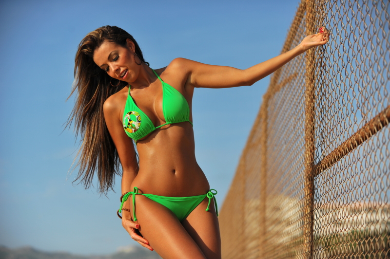 Green junior bikini-2