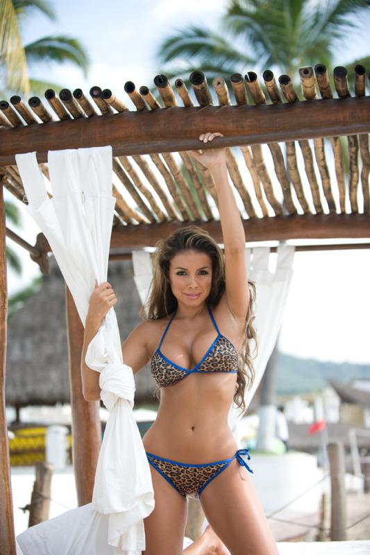 Leopard String Bikini-2