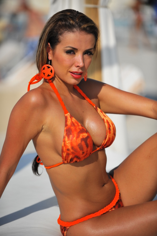 Orange Braided Bikini