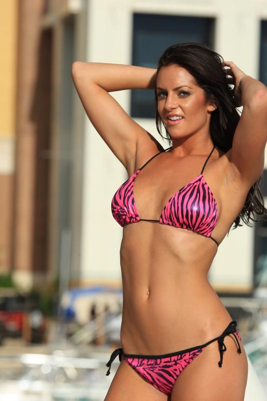 Pink zebra Bikinis