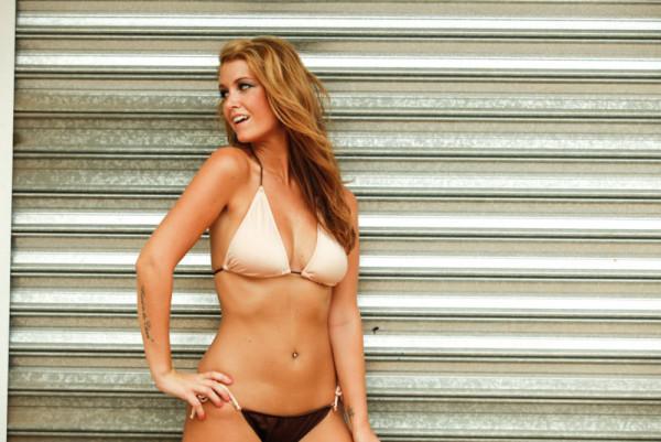 Tan String Bikini