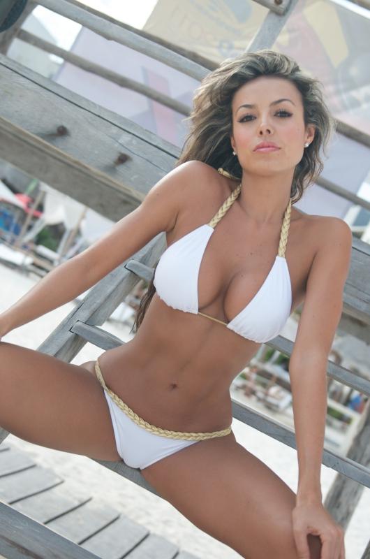 White Braided Bikini-1