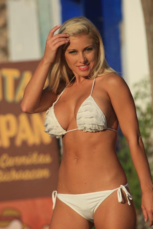 White Ruffled bikini