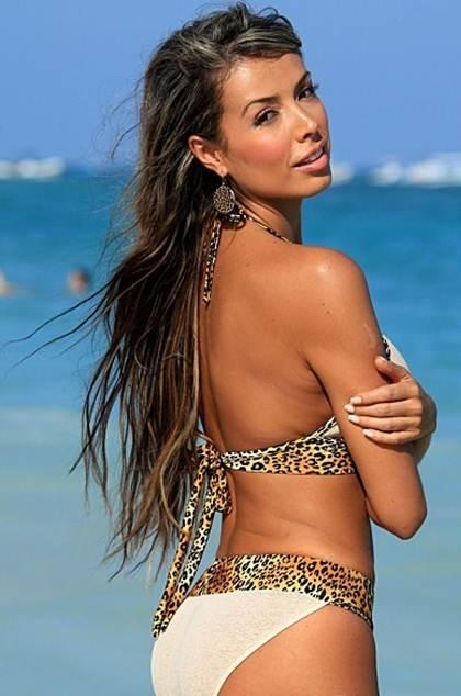 Sheer Leopard Print Bikini