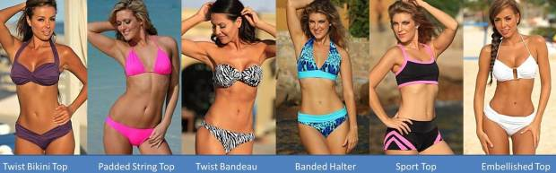 When attempting to add volume or size to your bust region you have a number of options available to you when shopping for bikinis for skinny women