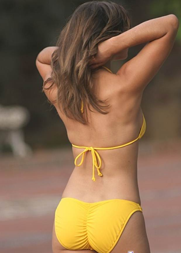 Scrunch Bikinis The perfect bikini for your butt yellow string