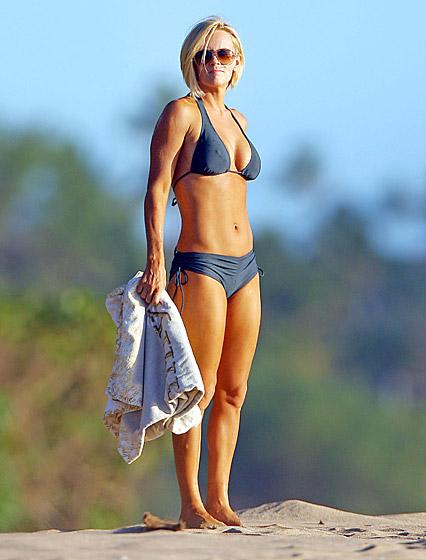 jenny mccarthy-Blue Shaping Booty short Bikini