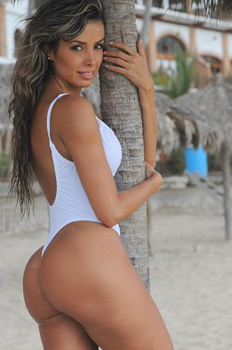 White-One-Piece-Thong-Swimsuit