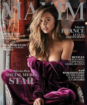 Alexis Ren Maxim Cover August 2017