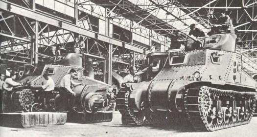 tank production world war II