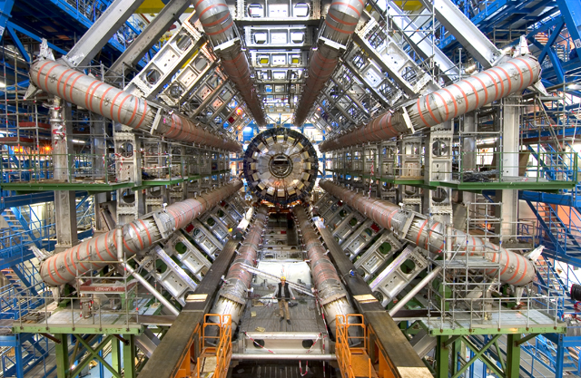 Atlas particle detector at CERN