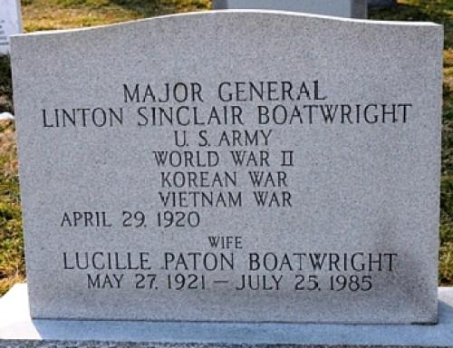 Linton Sinclair Boatwright Gravestone