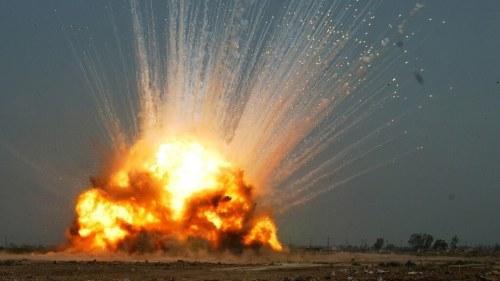Hellfire missile explosion