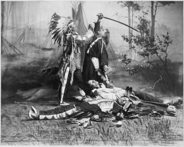 Death of Custer by actors Pawnee_bill_wild_west_show_c1905