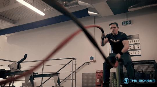Battle ropes cross training