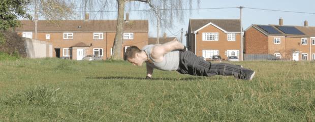 One arm push ups