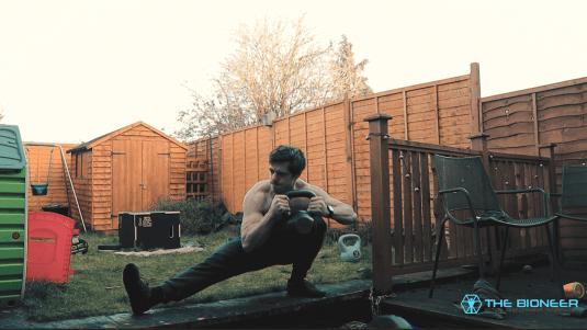 Cossack squat to strengthen knees