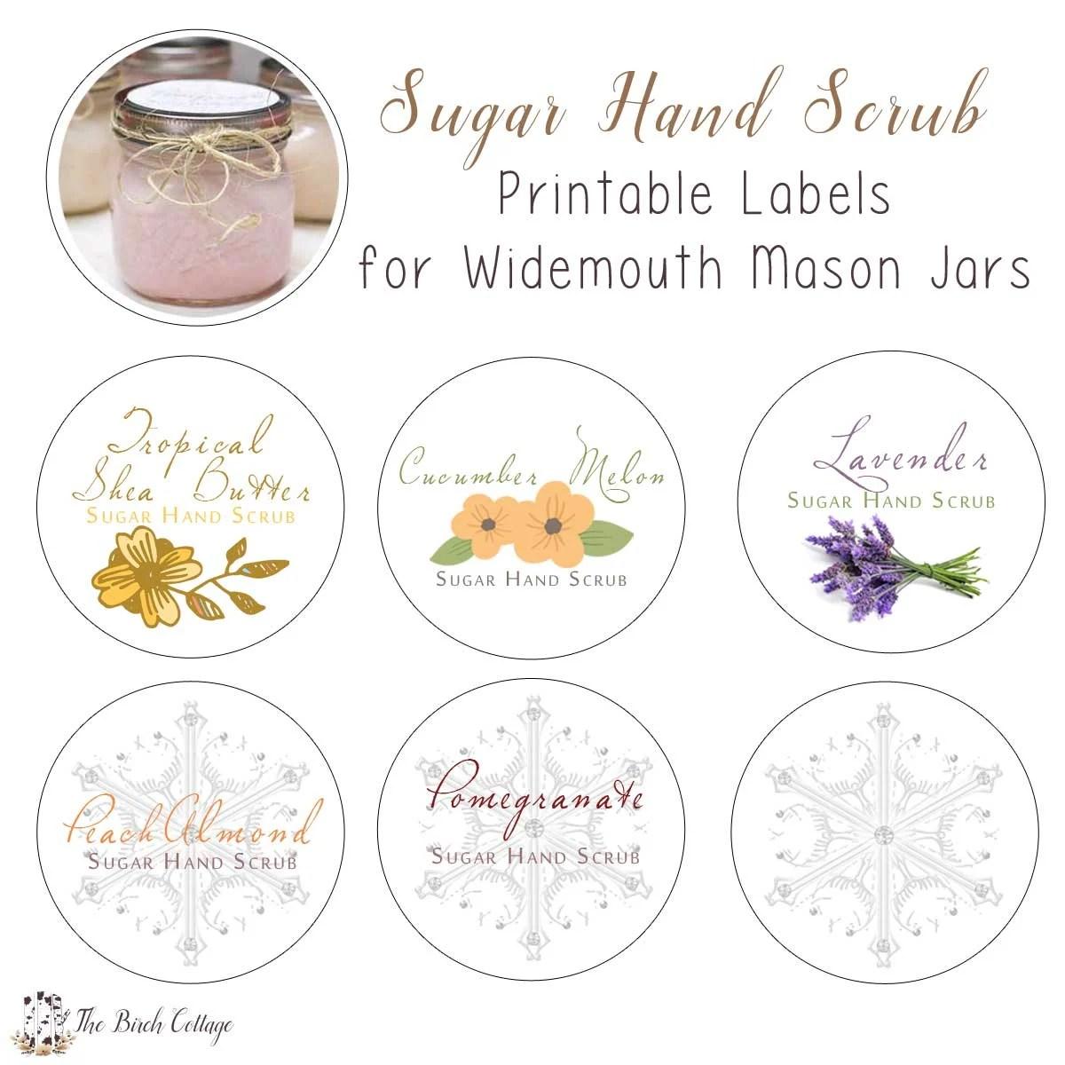 New Diy Sugar Hand Scrub Printable Labels