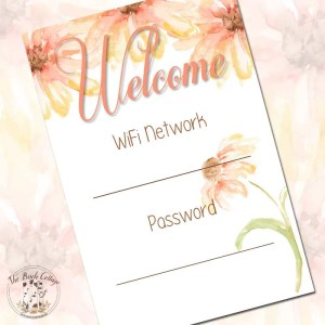 What's your WiFi Password? {A Free WiFi Password Printable}