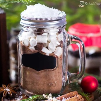 This Homemade Hot Chocolate Mix Recipe makes not only a decadent cup of hot cocoa, but also makes for a great last minute DIY Christmas gift!