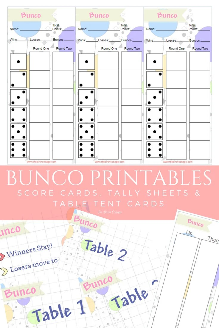 photo regarding Free Printable Bunco Table Tally Sheets referred to as free of charge printable bunco playing cards