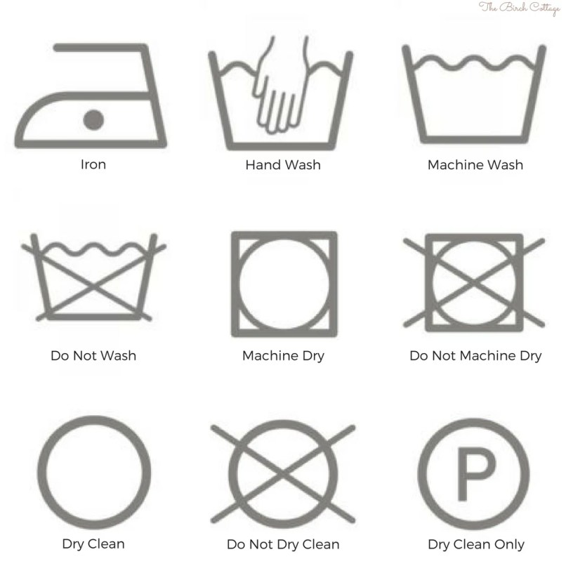 Wash Care Symbols Dry Clean Only Diydrywalls