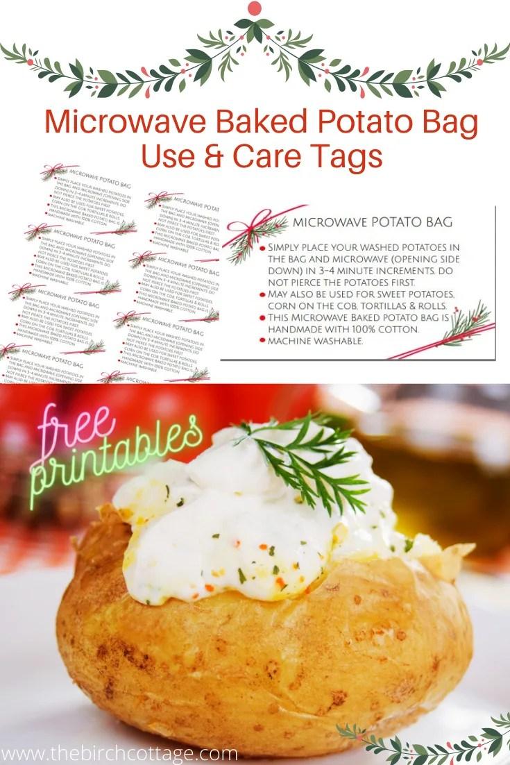 microwave baked potato bag care and use