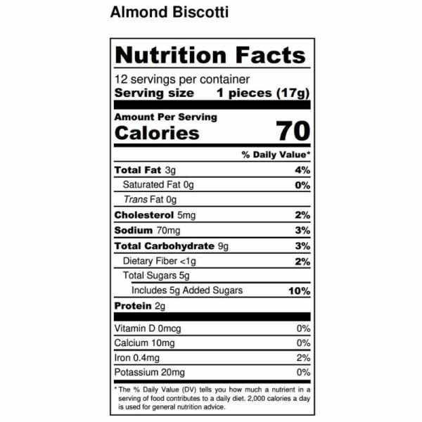 almond-biscotti-nutritional-facts