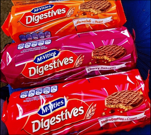 new digestives flavours mcvities