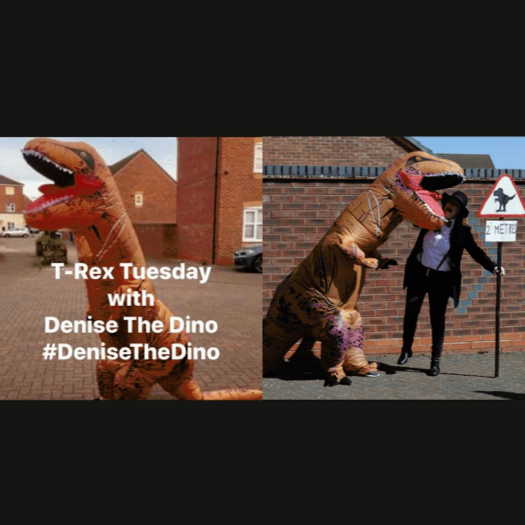 denise the dinosaur covid champs runner up the biscuit baron
